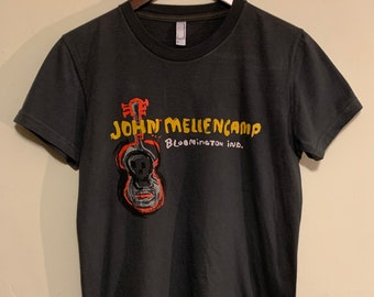 2010 Women's John Mellencamp Bloomington Indiana Guitar Soft Thin T-Shirt XL