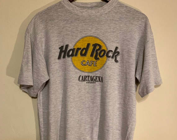 Vintage Hard Rock Cafe Cartagena Columbia Distressed Soft Tee M