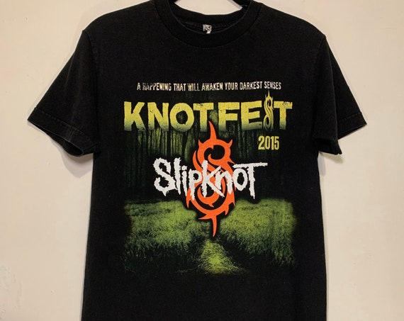 2015 Slipknot Knotfest Korn Judas Priest San Bernardino CA Metal Distressed T-Shirt S
