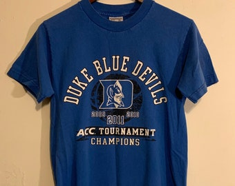 2011 Duke Blue Devils ACC Champions Basketball College Distressed T-Shirt S