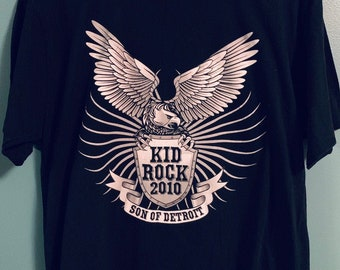 2010 Kid Rock Son of Detroit Distressed Concert T-Shirt XL