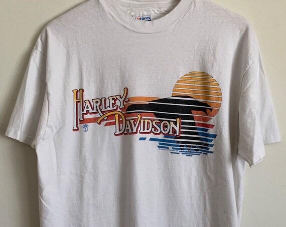 1988 Harley Davidson RK Stratman Sunset Fort Wayne Indiana Biker T-Shirt XL