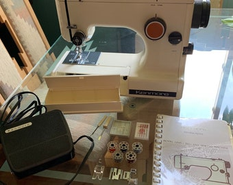 Great Condition! Kenmore ZigZag Sewing Machine Model 1045 + Parts + Instruction Manual