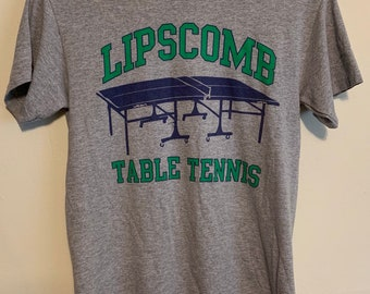 Vintage Lipscomb University Table Tennis Distressed T-Shirt S