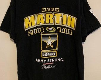 2008 Mark Martin Army Strong Nascar Tour T-Shirt L