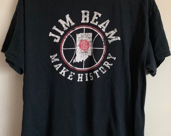 Jim Beam Indiana Basketball Make History Soft Distressed T-Shirt XL