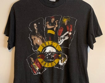 90s Vintage Women's Guns N' Roses Appetite for Destruction Cut Off T-Shirt S/M