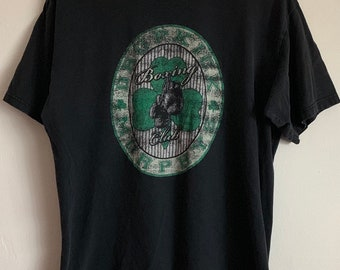 Dropkick Murphy's Boxing Club Shamrock Distressed Soft T-Shirt L