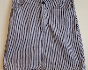 Brandy Melville Grey & White Pinstripe Soft Fitted Mini Skirt Small/26