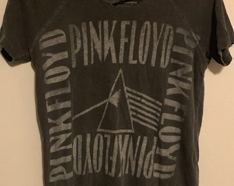 Women's Pink Floyd Gray Scale Dark Side of the Moon Thrashed Tee XS