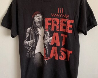 Lil Wayne Free At Last Distressed Soft T-Shirt Medium