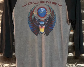 80 Vintage Journey Escape Tour Knits Raglan T-Shirt M/L