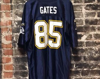 Vintage San Diego LA Chargers Antonio Gates #85 NFL Football Jersey XL