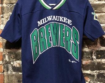 ae74d8cfa Rare MLB 08 CC Sabathia 52 Milwaukee Brewers T-Shirt Jersey | Etsy
