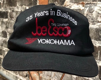Rare Vintage Thrashed Yokohama Motorcycle Racing SnapBack Trucker Hat