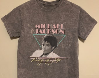 Retro Throwback Women's Michael Jackson King of Pop Cropped Tee XS