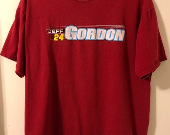 Vintage Jeff Gordon #24 Nascar Racing Soft Distressed Winner's Circle T-Shirt XL