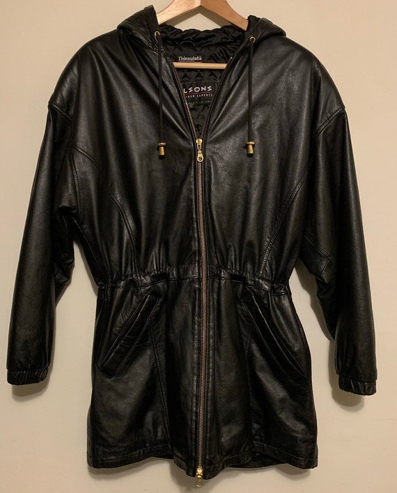 Wilson's Leather Thinsulate Thermal Parka Gold Zipper Jacket XS