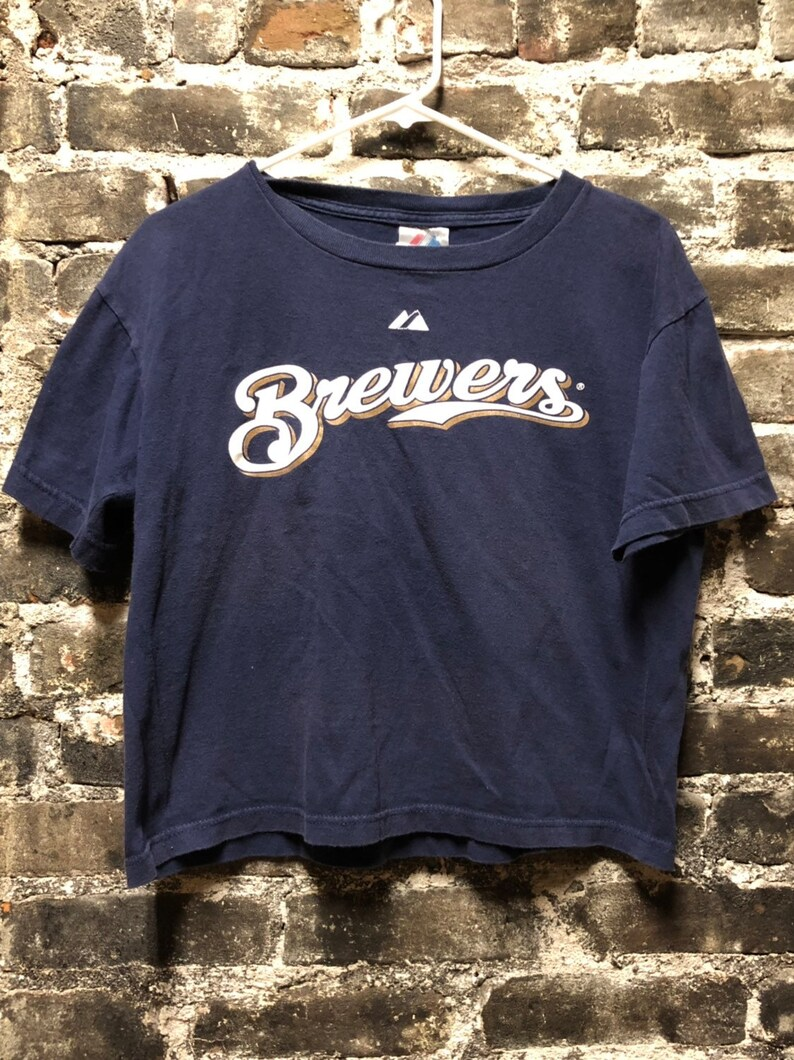 uk availability 65648 31688 Rare MLB 08 CC Sabathia #52 Milwaukee Brewers T-Shirt Jersey, Youth  Large/Women's Small.