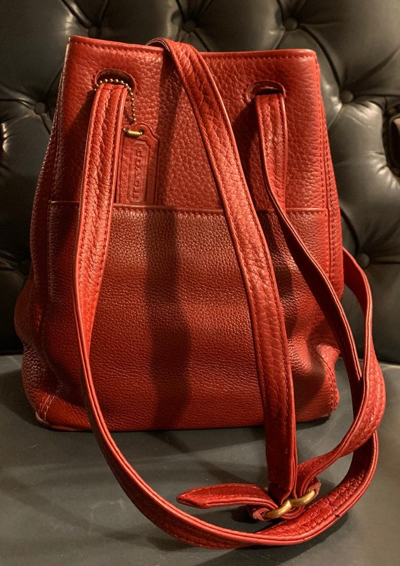 Vintage COACH Sonoma Red Leather Tote Bag Purse