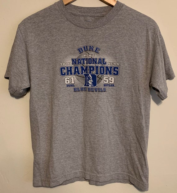2010 Duke Blue Devils NCAA Basketball Champions Tee Youth L/Womens XS