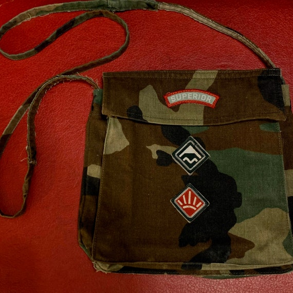 Real Savage Like Original Superior Army Green Camo Double Sided Button Shoulder Bag Purse