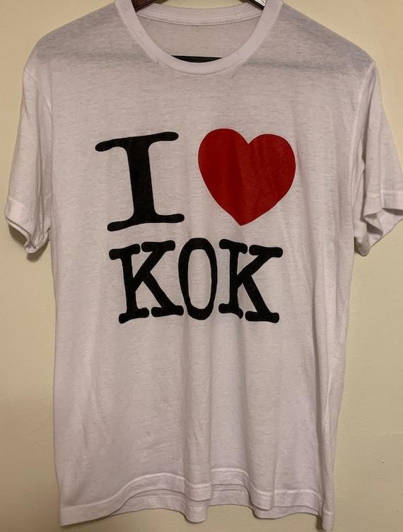 """Vintage """"I love Kok"""" Bangkok Super Thin Soft T-Shirt M"""