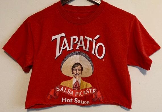 Women's Tapatio Distressed Cropped Raw Hem T-Shirt XS
