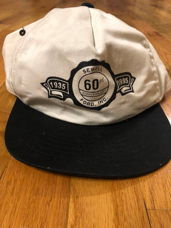 Vintage 90s Thrashed Sewell Ford SnapBack Trucker Hat