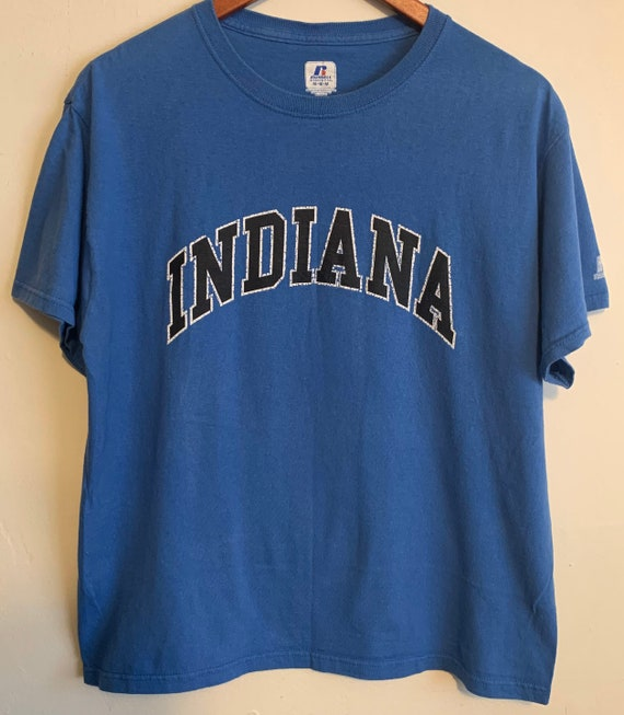 Vintage Indiana State University Classic Blue Distressed Tee M