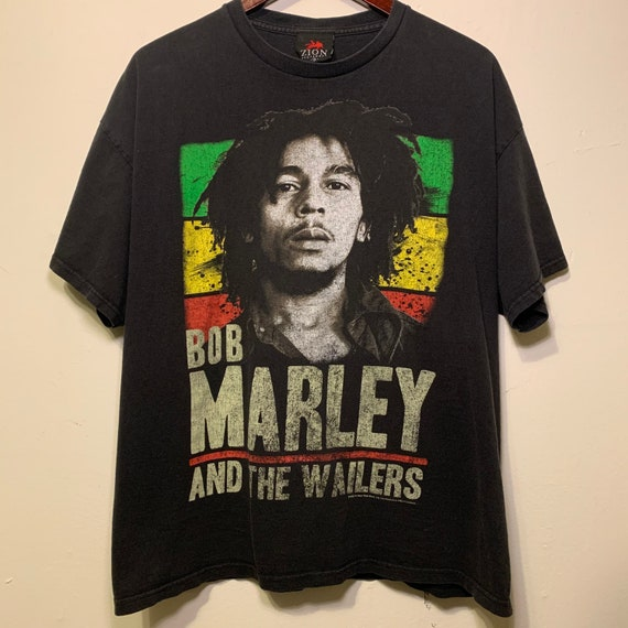 Vintage Bob Marley and the Wailers Reggae Jamaica Distressed Soft Tee Shirt XL