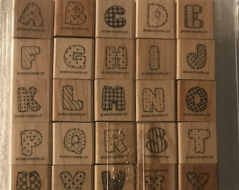 STAMPIN UP! Retired Stitched Alphabet 1994