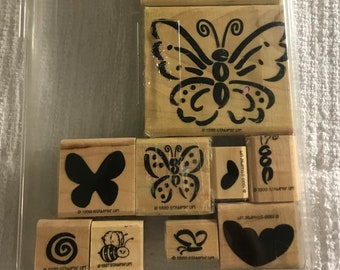 STAMPIN UP! Retired Definitely Decorative Flutterbys Butterflies