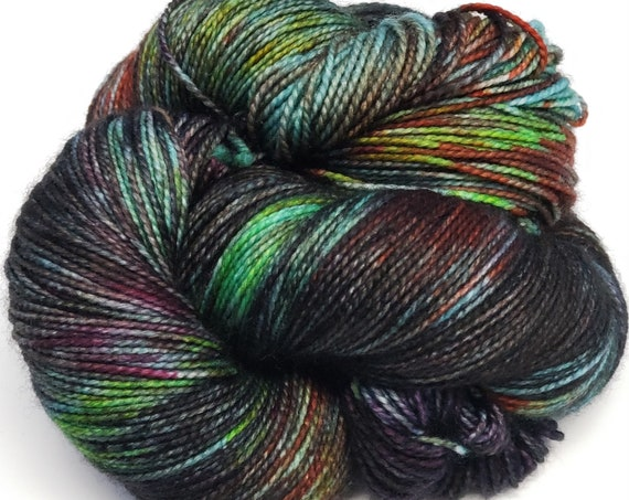 Hand Dyed Yarn/Superwash merino/nylon/Sock Yarn/Practical Magic - DYED TO ORDER