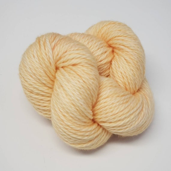 Hand Dyed Yarn/Superwash merino/Bulky /Creme brulee- Dyed to Order