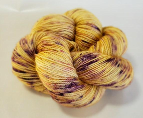 Hand Dyed Yarn/Superwash merino/nylon/Sock Yarn/Vineyard Moon- DYED TO ORDER