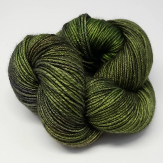 Hand Dyed Yarn/Superwash merino/DK /Aspen- Dyed to Order