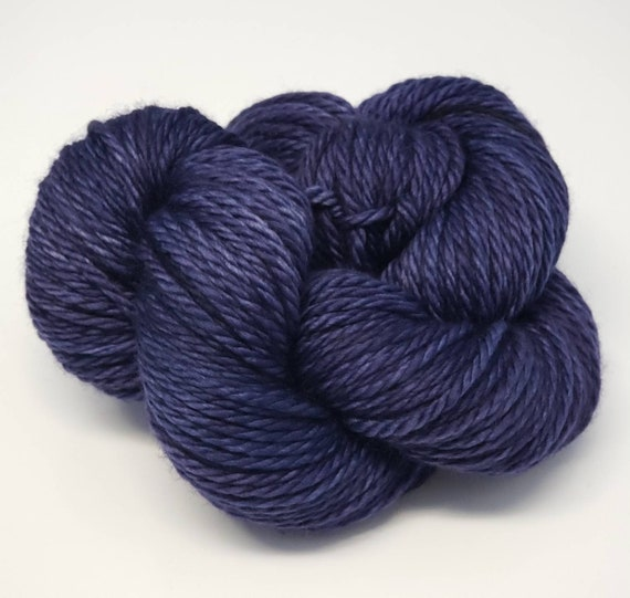 Hand Dyed Yarn/Superwash merino/Bulky /Blue Danube- Dyed to Order