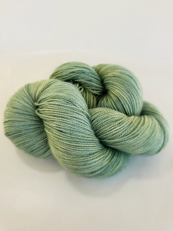 Hand Dyed Yarn/Superwash merino/nylon/Sock Yarn/Mojito - DYED TO ORDER