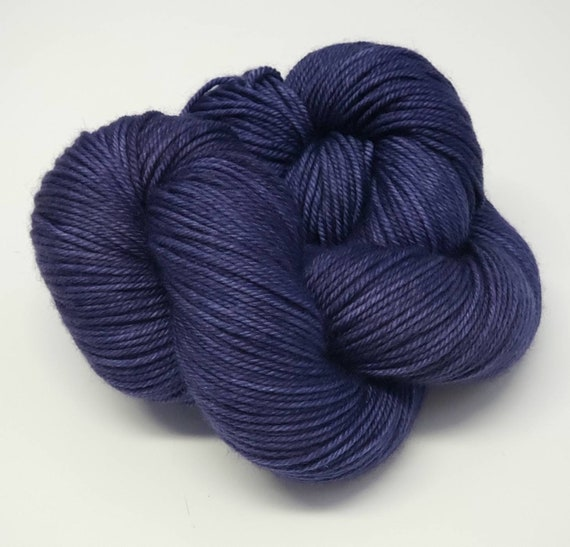 Hand Dyed Yarn/Superwash merino/DK /Blue Danube- Dyed to Order