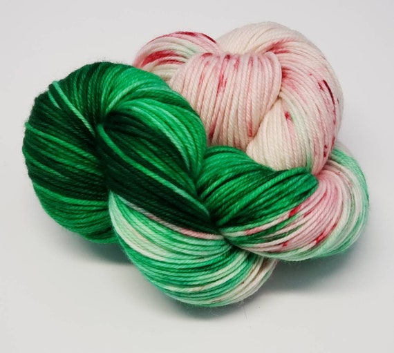 Hand Dyed Yarn/Superwash merino/DK /Sleigh Ride- Dyed to Order