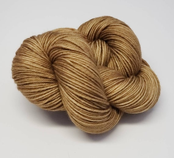Hand Dyed Yarn/Superwash merino/DK /Macchiato- Dyed to Order