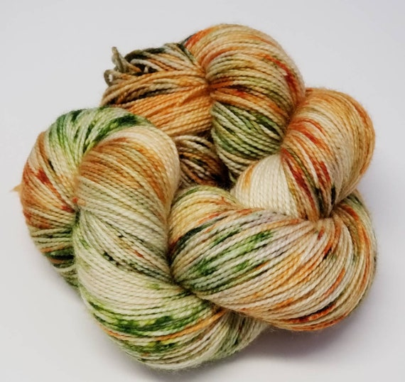 Hand Dyed Yarn/Superwash merino/nylon/Sock Yarn/Gran's Garden - DYED TO ORDER