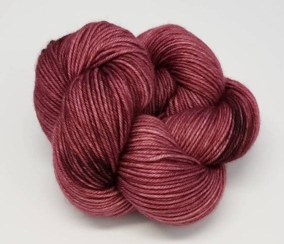 Hand Dyed Yarn/Superwash merino/DK /Grandmother- Dyed to Order