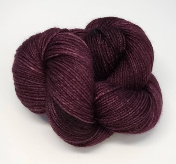 Hand Dyed Yarn/Superwash merino/DK /Sultry- Dyed to Order