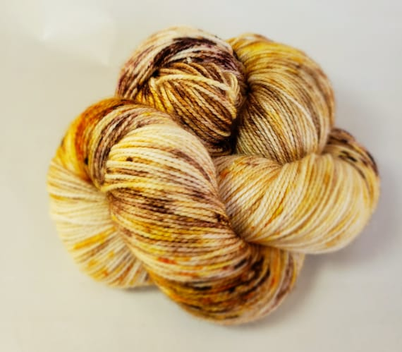 Hand Dyed Yarn/Superwash merino/nylon/Sock Yarn/Good Morning Saugerties - DYED TO ORDER