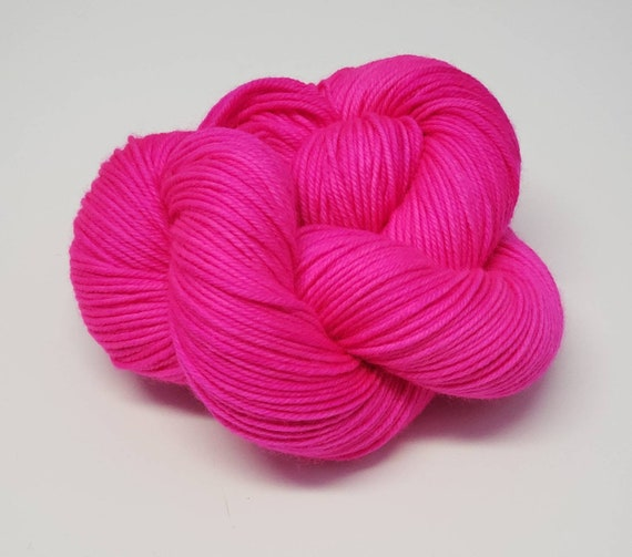 Hand Dyed Yarn/Superwash merino/DK /Flamingo- Dyed to Order