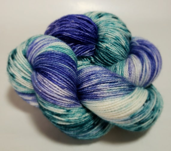 Hand Dyed Yarn/Superwash merino/nylon/Sock Yarn/Misty Waters - DYED TO ORDER