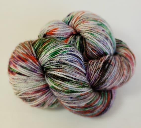 Hand Dyed Yarn/Superwash merino/nylon/Sock Yarn/Ratatouille - DYED TO ORDER