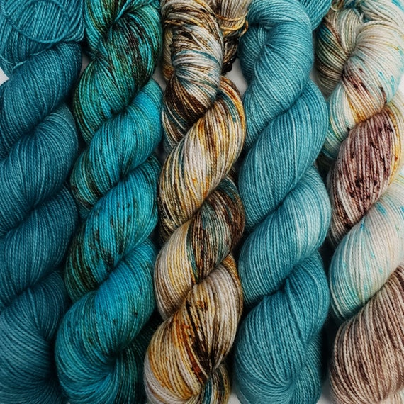 Hand Dyed Yarn/Superwash merino/nylon/Sock Yarn/Fade Kit - DYED TO ORDER
